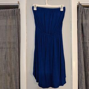 Blue Strapless Sun Dress